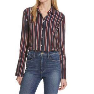 Frame Denim Stripe Pajama Shirt